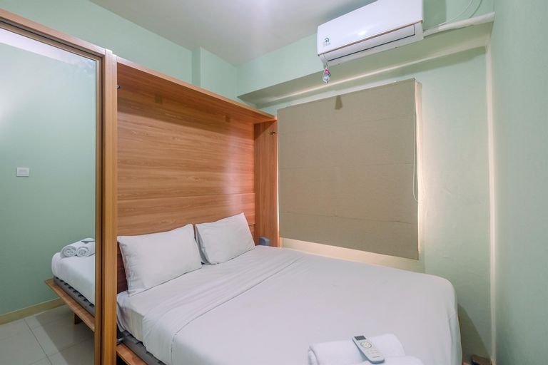Trendy Connecting Mall 2BR Green Pramuka Apartment By Travelio, Central Jakarta