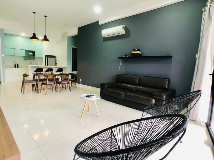 Penang High Floor Lv45 Home Theater 3BR Suite 8pax, Pulau Penang