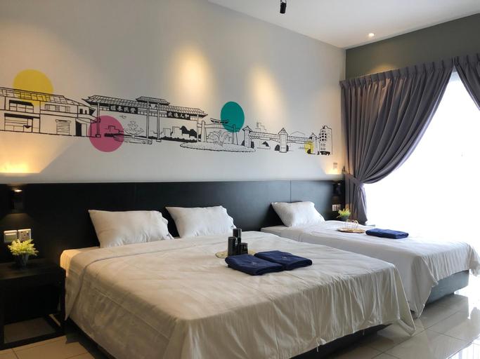 Pinstay Bayan Suites(King+S.Single)@ Aeropod Squar, Kota Kinabalu