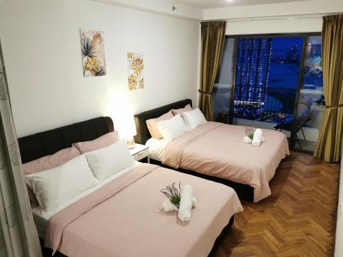 Landmark High Floor Seaview Suite, Gurney # 500mbpsWifi, Pulau Penang