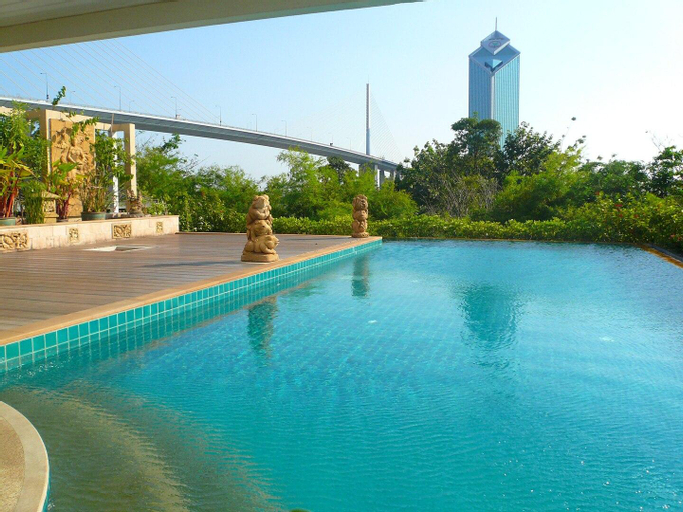 Nice 3BR Apt, River Front view, near Asiatique, Yannawa