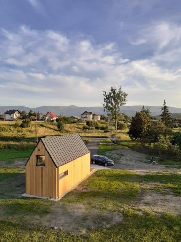 Widok na Sniezke - domki caloroczne, Jelenia Góra