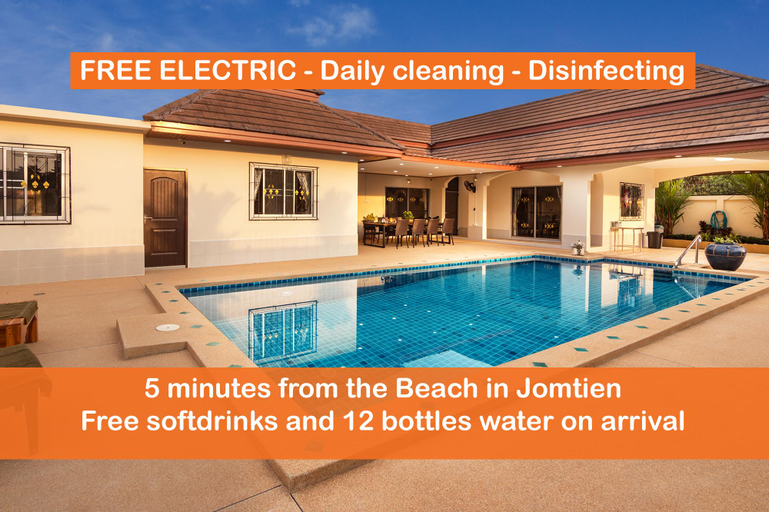 Villa Bos FREE ELECTRIC  5min. from Jomtien Beach, Pattaya