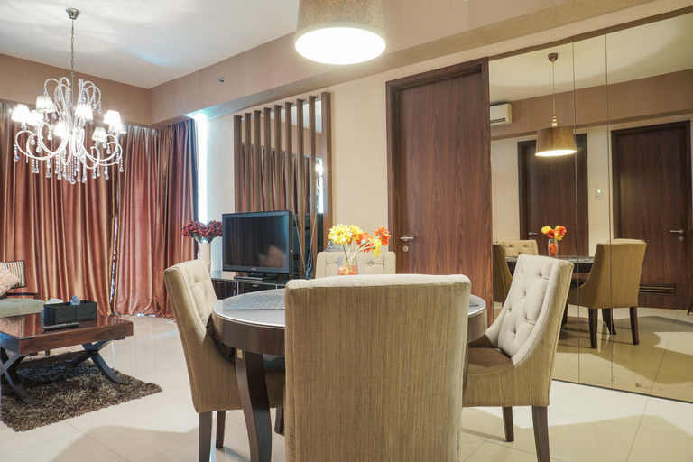 Lavish Cozy Stay 2BR at St. Moritz Apartment By Travelio, West Jakarta